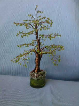 Bonsai margele seed galben-verde
