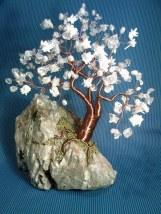 image cu copacel feng shui cu coral, cuart, perle