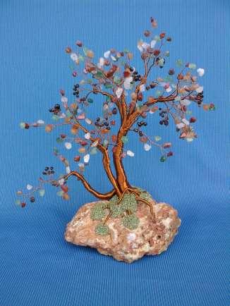 image cu copacel feng shui cu mix de pietre semipretioase#3