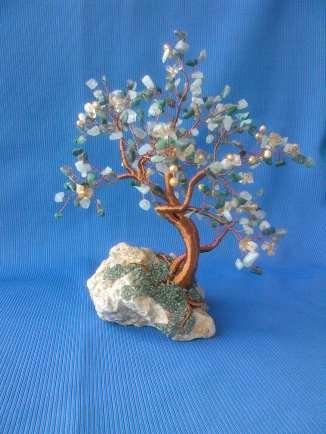 copacel feng shui cu citrin-calcit-perla-agate verzi-jad