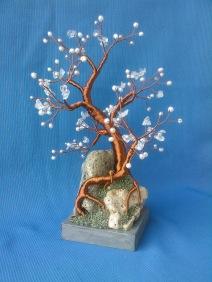copacel feng shui cu cuart de stanca, si perle de cultura1