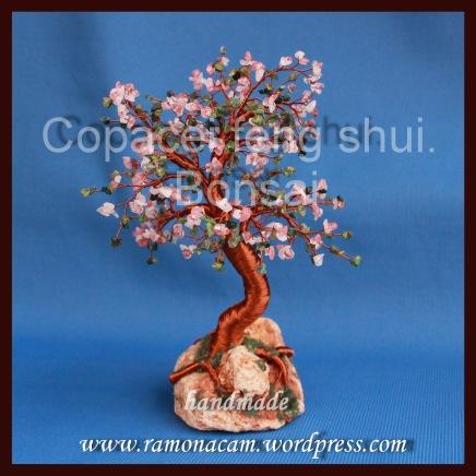 copacel feng shui cu agata verde peridot cuart roz si cherry cuart