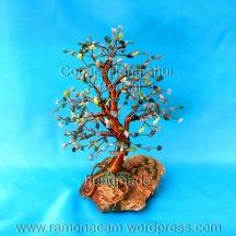 copacel feng shui cu labradorite, green agate, olive jade, ruby in zoisite