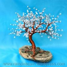 copacel feng shui cu piatra lunii (moonstone)