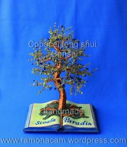 Copacul Paradis - peridot, serpentin, lapis lazuli, sidef